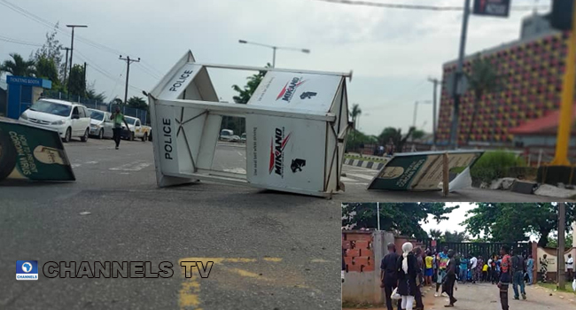Government Offices Shut As Protesters Mount Multiple Roadblocks In Lagos