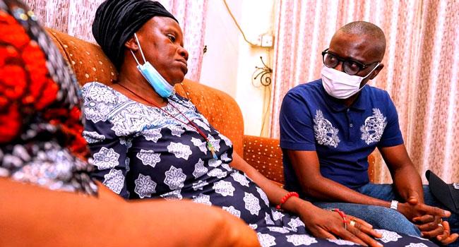 Babajide Sanwo Olu visits widow