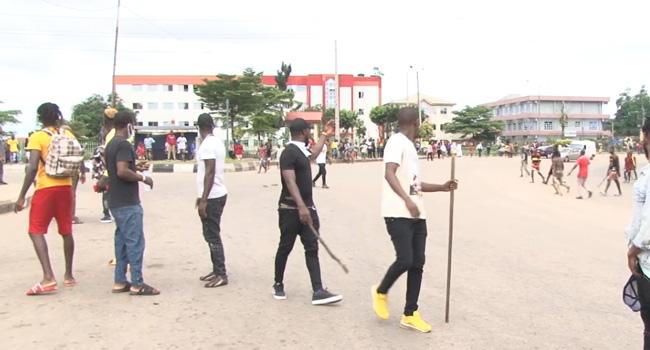 Armed Men Attack #EndSARS Protesters In Benin