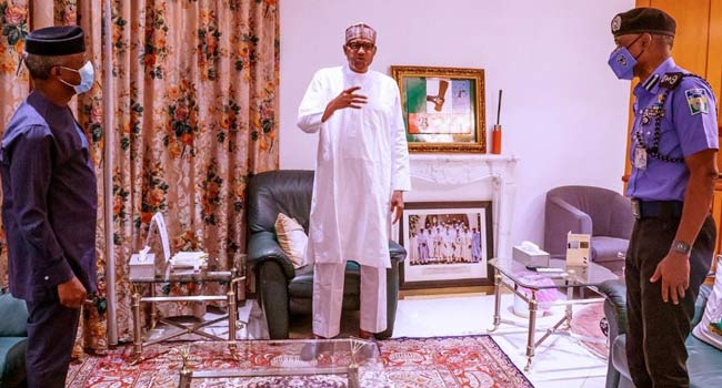 #EndSARS Protests: Buhari Calls For Calm, Orders IGP To Address Nigerians' Concerns