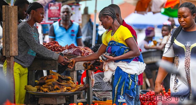 A file photo of a resident at a market in Akure, Ondo State. Photo: Sodiq Adelakun