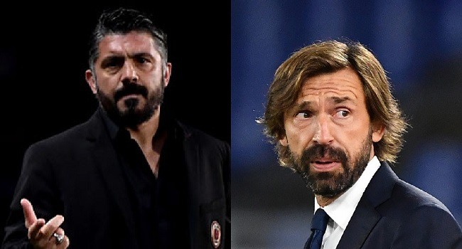 Pirlo Vs Gattuso: Old Team Mates Face Off As Napoli Tackle Juventus