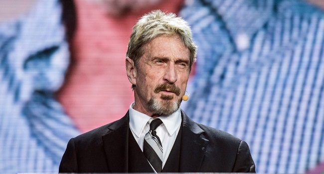 Software company founder McAfee charged with tax evasion
