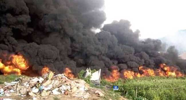 Six Killed As Two Tankers Collide, Explode In Niger