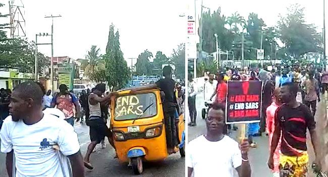 #ENDSARS Protesters Hit Ojodu Berger Roads, Insist No Going Back