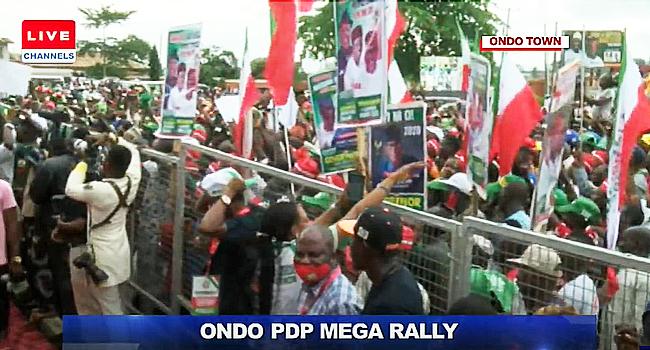 Ondo Governorship Election: PDP Holds Mega Rally
