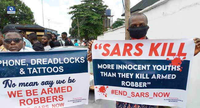 #EndSARS: Nigerians Protest Against Rights' Infringements In Anambra