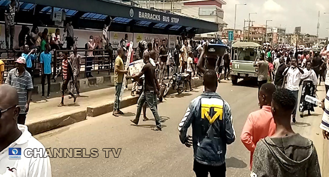 At Least One Killed In Surulere #EndSARS Protest