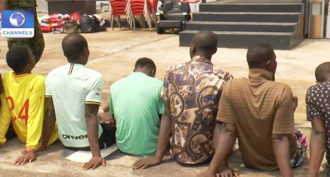 Navy Arrests 41 Suspects In Lagos, Hands Over Items To Police