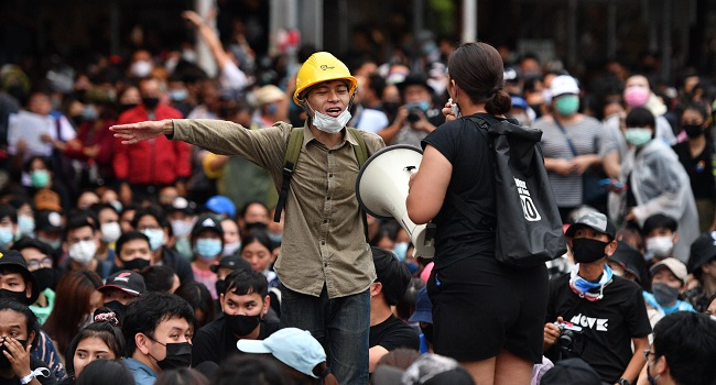 Tens Of Thousands Of Thais Protest In Defiance Of Ban