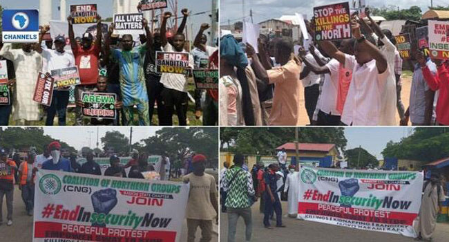 Youths Protest Against Insecurity, Bad Roads And Epileptic Power Supply In Northern States