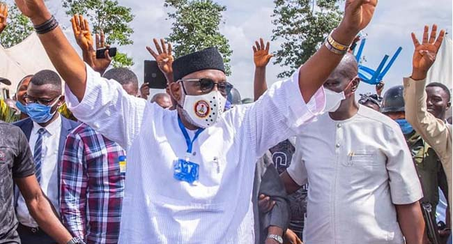'The People Have Spoken In Clear Voice': Buhari Congratulates Akeredolu On Re-Election