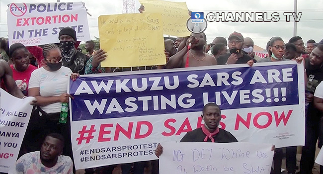#EndSWAT: Youths Protest In Anambra, Demand Prosecution Of Former CSP James Nwafor