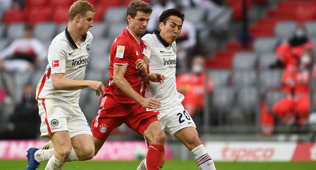 Bundesliga side, Eintracht Frankfurt on Saturday trolled Barcelona despite the team's loss to Bayern Munich in a league game