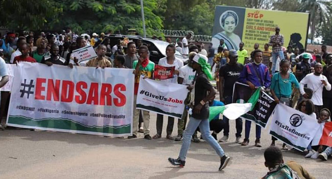 ENDSARS Protesters Shutdown Activities In Benue