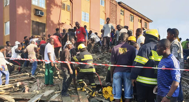 Updated: Six Dead, Others Injured As Building Collapses In Lagos