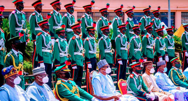 PHOTOS: Buhari Attends Passing Out Parade Of 67 Cadets In Kaduna