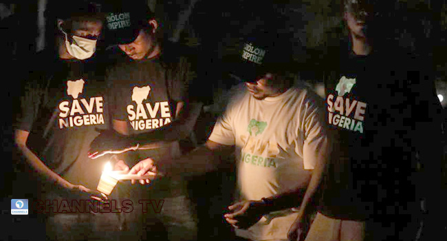 #EndSARS: Sights, Scenes From Candlelight Procession In Abuja