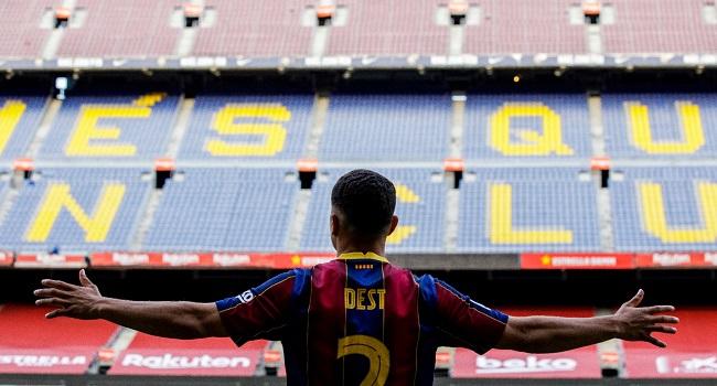 Barcelona Sign Defender Sergino Dest From Ajax