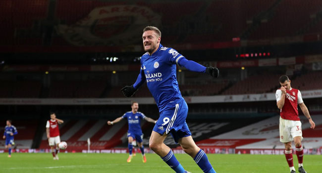 Rodgers Hails 'World Class' Vardy As Leicester Move Fourth On EPL Log
