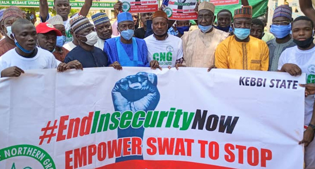Kebbi Youths Protest Against Insecurity In Northern Nigeria