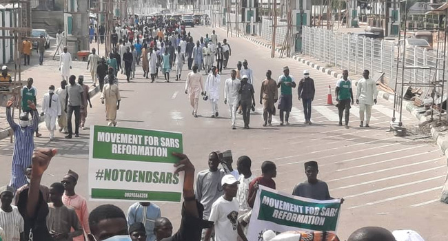 Coalition Of Northern Youths Storm Kano, Protest In Favour Of SWAT
