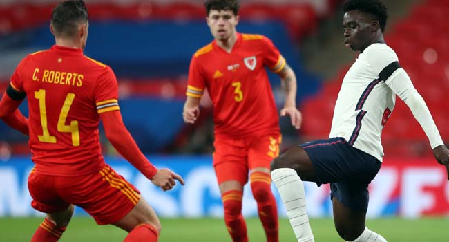 Arsenal's Saka Makes England Debut As Three Lions Wallop Wales