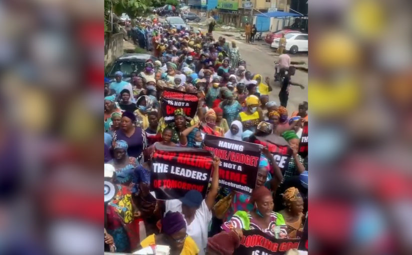 Stop Killing Our Children – Women Join End SARS Protest In Agege, Lagos