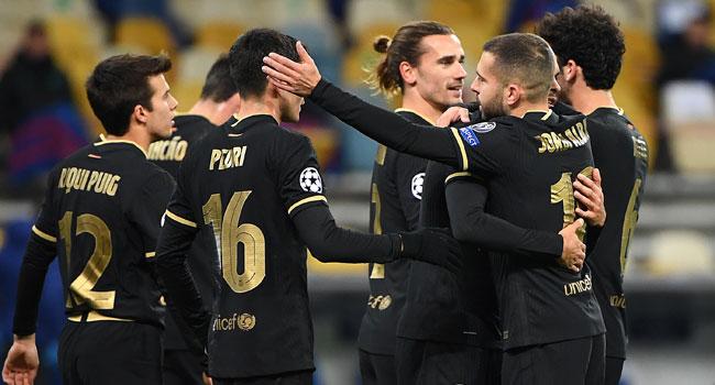 Barcelona Beat Dynamo Kiev, Qualify For Champions League Last 16