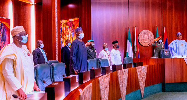 Buhari, Others Honour Late Permanent Secretary At FEC Meeting
