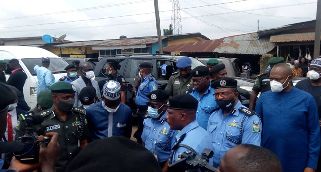 IGP Visits Edo State On Assessment Of Destroyed Properties