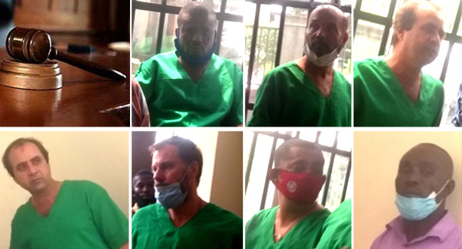 Six Foreigners, Nigerian Sentenced To Seven Years In Prison For Oil Theft
