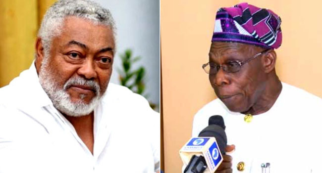 Rawlings Was Passionate About Peace, Security And Leadership Issues In Africa – Obasanjo