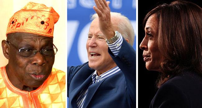 Obasanjo Congratulates Biden, Suggests Kamala Harris Has Nigerian DNA