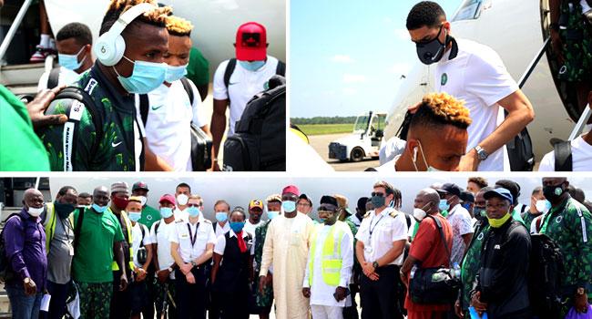 PHOTOS: Super Eagles Travel To Sierra Leone For AFCON Qualifier Return Leg
