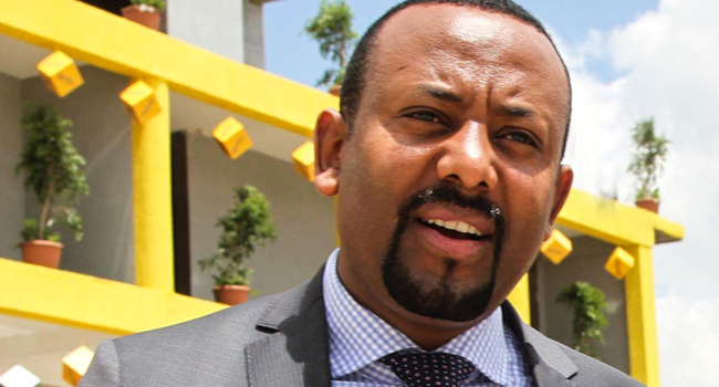In this file photo taken on March 28, 2018 Abiy Ahmed, Chairman of Oromo Peoples' Democratic Organization (OPDO) looks on in Addis Ababa. Samuel Gebru / AFP