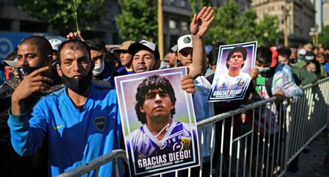 Argentina And The World Of Football Mourn Maradona