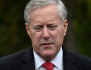 In this file photo taken on October 21, 2020 White House Chief of Staff Mark Meadows speaks to the media at the White House in Washington, DC. Olivier DOULIERY / AFP
