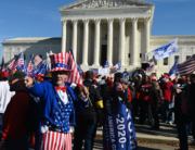 Supporters of US President Donald Trump rally at the US Supreme Court in Washington, DC, on November 14, 2020. Supporters are backing Trump's claim that the November 3 election was fraudulent. Andrew CABALLERO-REYNOLDS / AFP