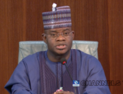 Kogi Governor Yahaya Bello addressed the press on November 17, 2020.