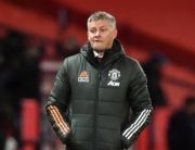 Manchester United's Norwegian manager Ole Gunnar Solskjaer reacts on the touchline during the English Premier League football match between Manchester United and Arsenal at Old Trafford in Manchester, north west England, on November 1, 2020. Paul ELLIS / POOL / AFP