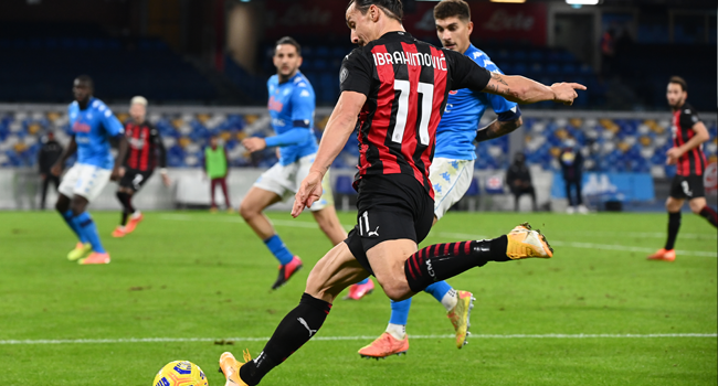 Ibrahimovic Scores Brace As AC Milan Stay Top Of Serie A