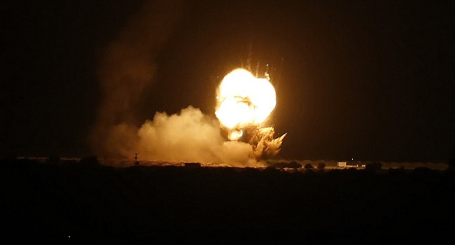 Israel Strikes Hamas Targets In Gaza After Rocket Attack