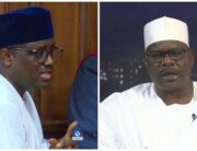 A file combination of former Chairman of the defunct Pension Task Team, Abdulrasheed Maina (L) and Senator Ali Ndume.