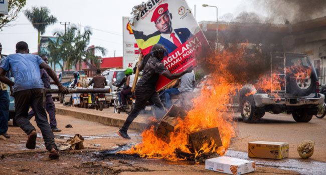 16 Killed In Riots Over Uganda Politician Arrest