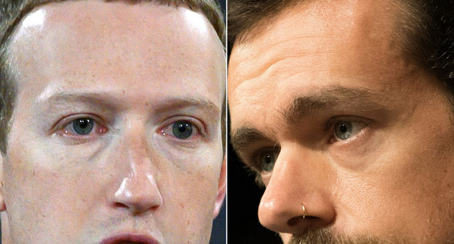 Zuckerberg, Dorsey To Appear Before US Congress On Tuesday