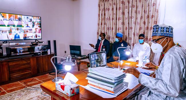 PHOTOS: President Buhari Joins FEC Virtually From Daura