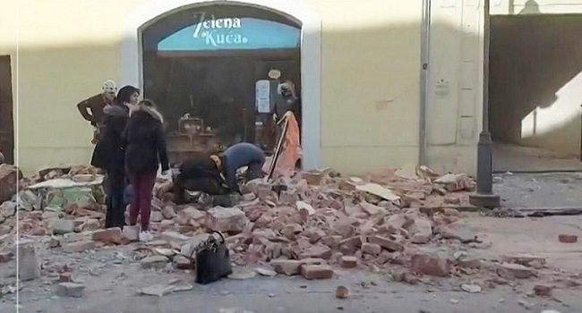 Croatia Hit By Powerful 6 4 Earthquake Channels Television
