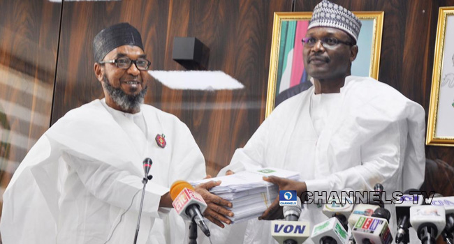 PHOTOS: INEC Chairman Resumes Office After Second Term Appointment