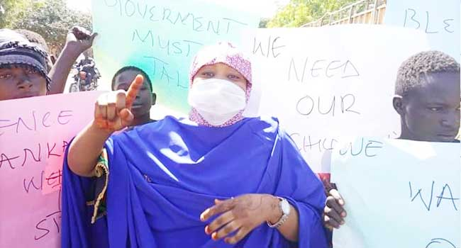 Women Protest Against Abduction Of Katsina Students, Demand Their Immediate Release